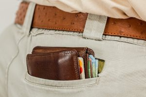 cash image wallet back pocket